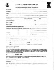 Goya Health Permission Form - Mandatory