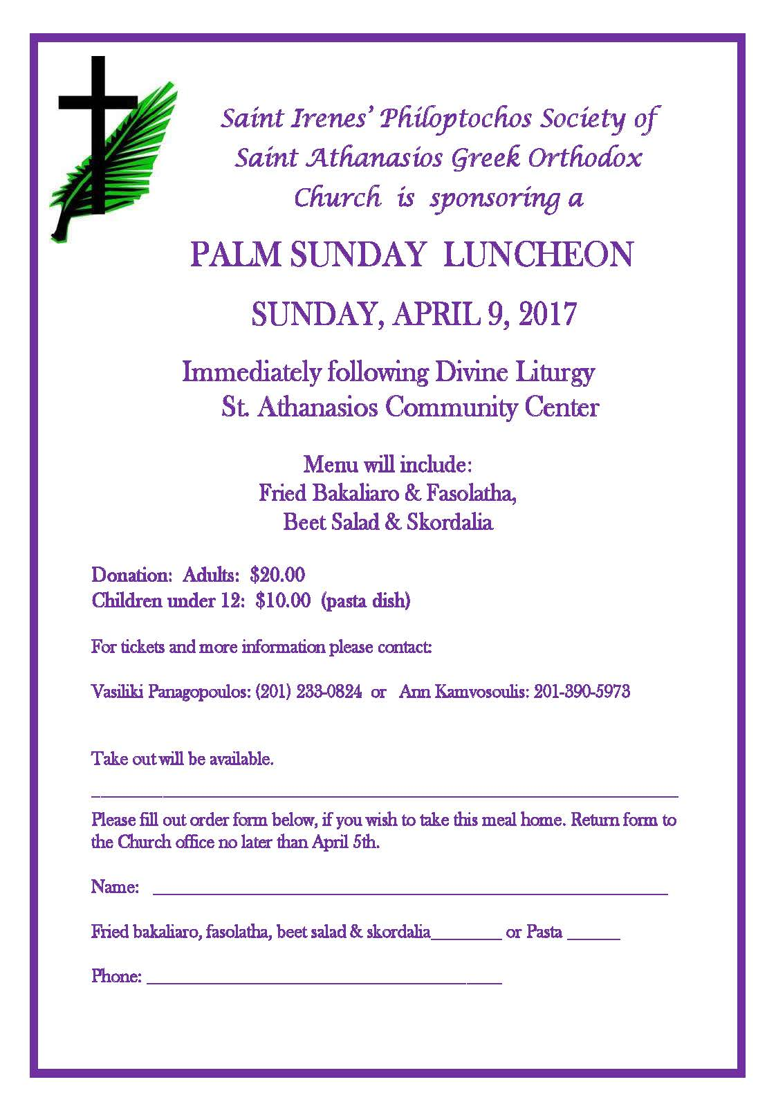 2017 Palm Sunday Luncheon
