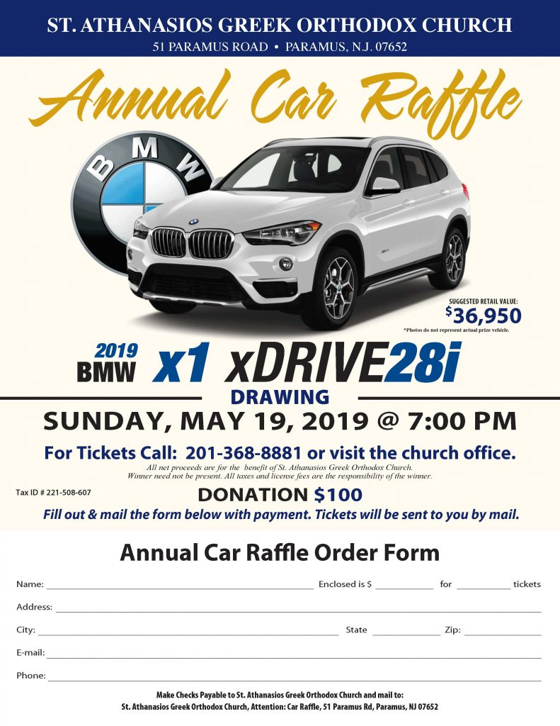 Annual Car Raffle – St  Athanasios Greek Orthodox Church